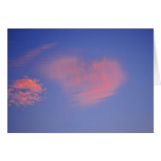 Heart from clouds - greeting map greeting card