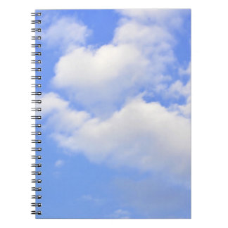 Heart from clouds Notebook