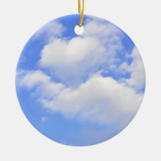 Heart from clouds Ornament