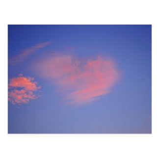 Heart from clouds - postcard