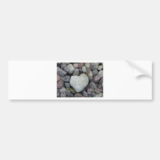 Heart from stone bumper stickers