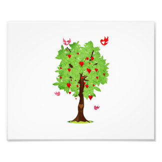 heart fruit tree with heart birds.png photograph
