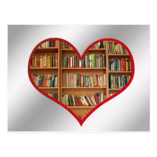 Heart Full of Books Postcard