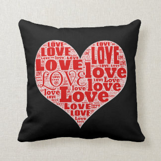 Heart Full Of Love Personalized Throw Pillow