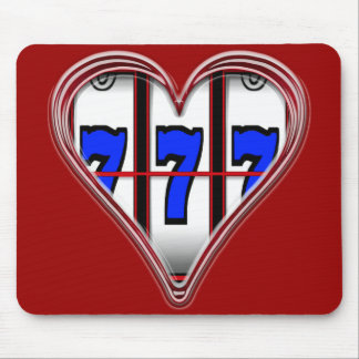 HEART FULL OF SLOTS MOUSE PAD