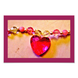 Heart Gem Necklace Art Photo