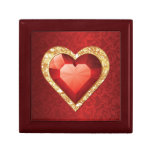 Heart Gemstone Ruby effect Gift Box