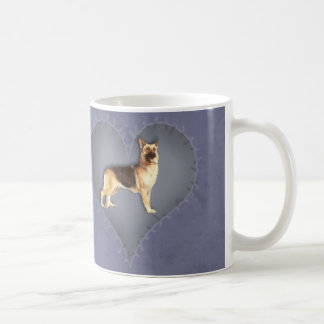 Heart German Shepherd Mugs