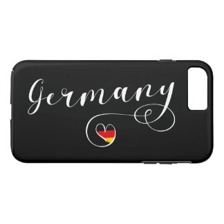 Heart Germany Cell Phone Case, German Flag iPhone 8 Plus/7 Plus Case