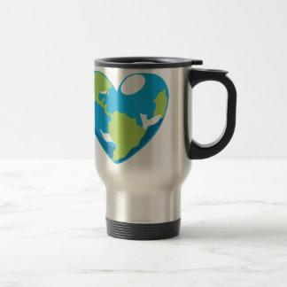 Heart Globe Stainless Steel Travel Mug