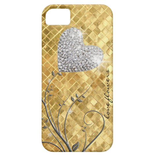 Heart golden love case for the iPhone 5