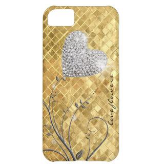 Heart golden love iPhone 5C case