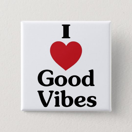 Heart good vibes simple love souvenir button