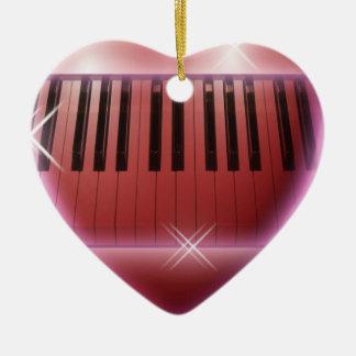 Heart Grand Piano Ornament