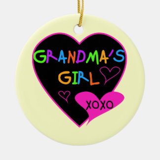Heart Grandma's Girl T-shirts and Gifts Christmas Ornament