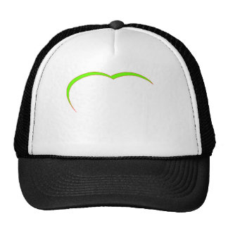 Heart Green Lt-Red Curve The MUSEUM Zazzle Gifts Mesh Hat