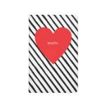 Heart Grid Notebook Journals