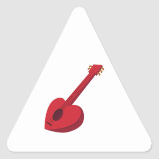 Heart Guitar Triangle Sticker