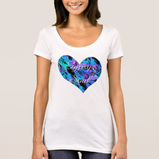 Heart Gypsy Soul Tee Shirt with Feathers