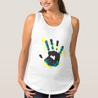 Heart Hand Print Maternity Tank Top