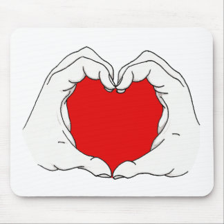 Heart Hands Mousepad