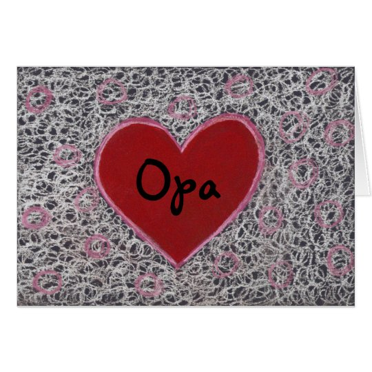 Heart, Happy Father's Day Opa Card