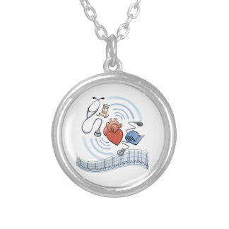 Heart Health Silver Plated Necklace