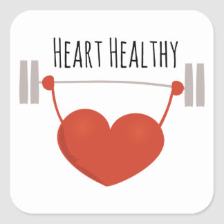 Heart Healthy Square Sticker