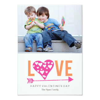 Heart Heart A7 Valentines Day Photo Card - PINK 13 Cm X 18 Cm Invitation Card