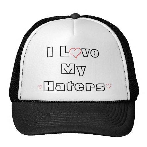 heart, heart, heart, I Love My Haters Mesh Hat