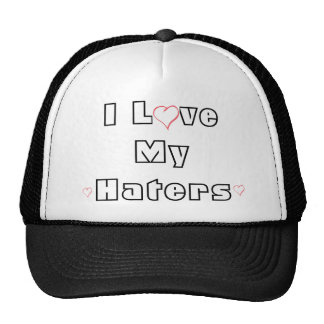 heart, heart, heart, I Love My Haters Cap