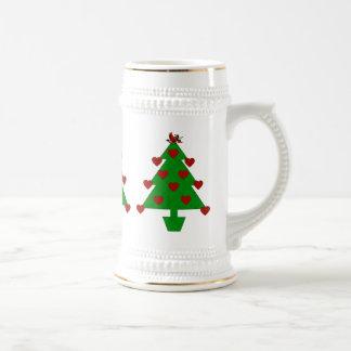 Heart Holiday Tree Mugs