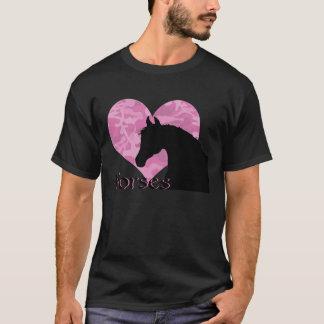 Heart Horse (pink camo) T-Shirt