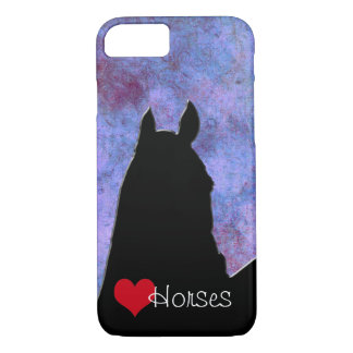Heart Horses I Red Heart (purple/blue) iPhone 7 Case