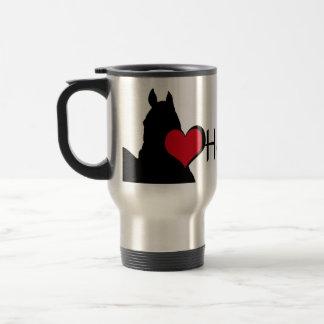 Heart Horses I (white background) Stainless Steel Travel Mug