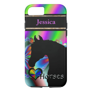 Heart Horses III Customizable (Fractal 116) iPhone 7 Case