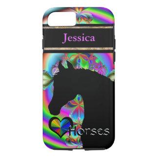 Heart Horses III Customizable (Fractal 116a) iPhone 7 Case