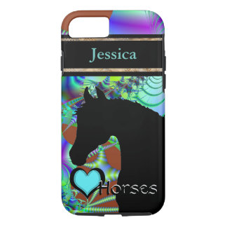 Heart Horses III Customizable (Fractal 43) iPhone 7 Case