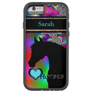 Heart Horses III Customizable (Fractal 50) Tough Xtreme iPhone 6 Case