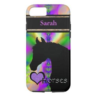 Heart Horses III Customizable (Fractal 85) iPhone 7 Case