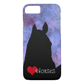 Heart Horses III Red Heart (purple/blue) iPhone 7 Case