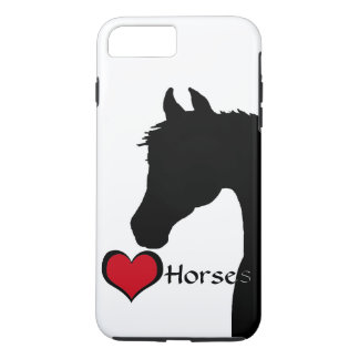 Heart Horses III (white) iPhone 7 Plus Case