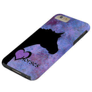 Heart Horses IV (purple/blue) Tough iPhone 6 Plus Case