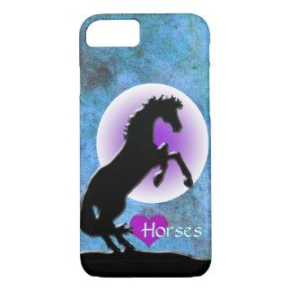 Heart Horses V (blue/green) iPhone 7 Case