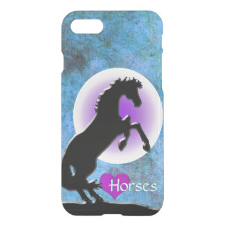Heart Horses V (blue/green) iPhone 7 Case