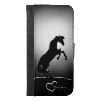 Heart Horses V Hazy Moon iPhone 6/6s Plus Wallet Case