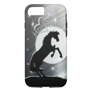 Heart Horses V (silver lines) iPhone 7 Case