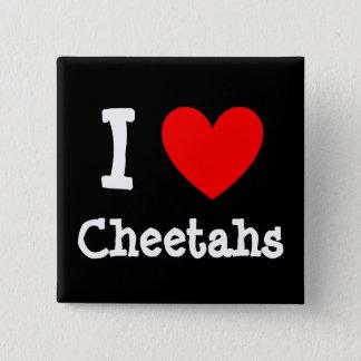 Heart, I , Cheetahs 15 Cm Square Badge