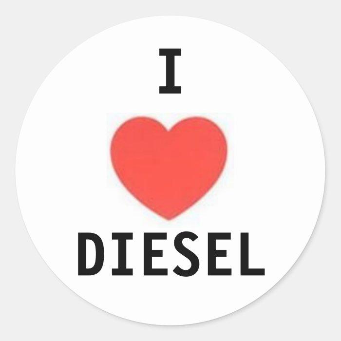 heart, I, DIESEL Round Sticker