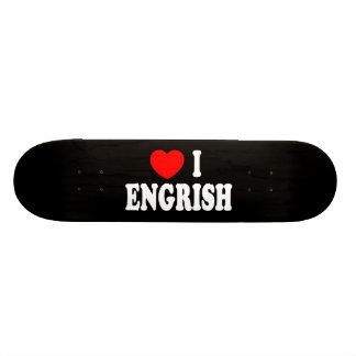 Heart I Engrish Custom Skateboard